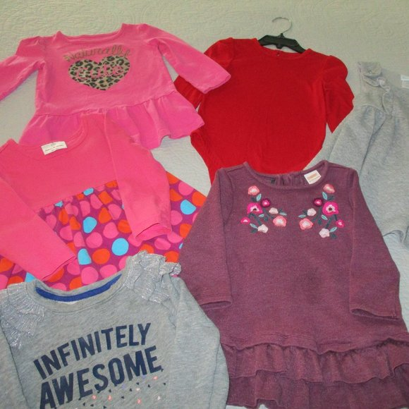 Bundle of Six Size 2T/24 months Girls tops and dresses